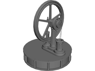 Miser Stirling Engine 3D Model
