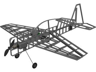 RC Yak 54 CAD 3D Model