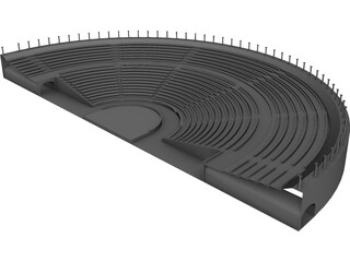 Odeon Amphitheater 3D Model