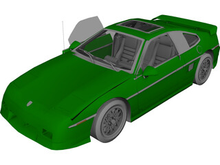 Pontiac Fiero GT (1987) 3D Model