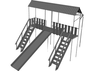 Children Playground CAD 3D Model