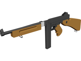 M1A1 Thompson 3D Model 3D Preview