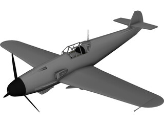 Messerschmitt ME-109 F1 3D Model