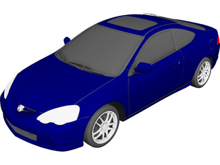 Honda Integra [Acura RSX] (2001) 3D Model