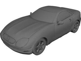 Mercedes-Benz SLK (1996) 3D Model 3D Preview