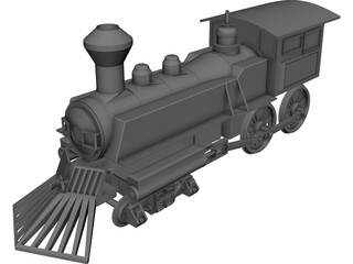 Steamtrain 3D Model