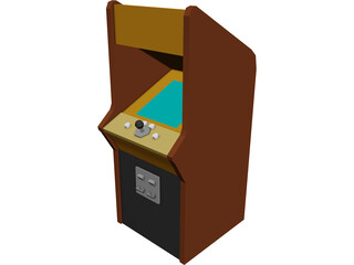 Arcade Game 3D Model 3D Preview