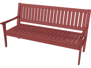 Madison Bench 3D Model 3D Preview