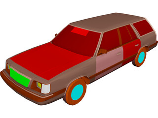 Plymouth Reliant Wagon (1985) 3D Model