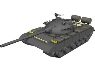 Type 80 Russian Tank 3D Model 3D Preview