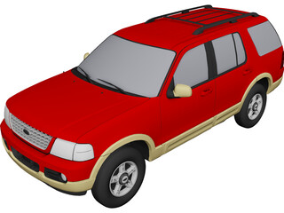 Ford Explorer (2001) 3D Model 3D Preview