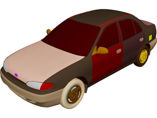 Hyundai Accent (1995) 3D Model