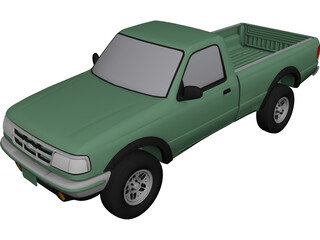 Ford Ranger XLT Pickup 4x4 (1994) 3D Model