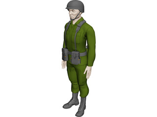 Soldier Male 3D Model 3D Preview