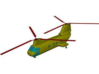 Boeing CH-46D Sea Knight 3D Model