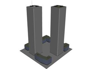 Twin Tower 3D Model