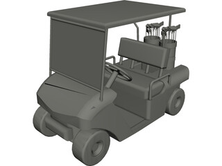 Golf Cart 3D Model 3D Preview