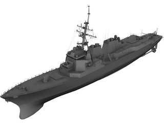 DDG-81 Winston Churchill 3D Model