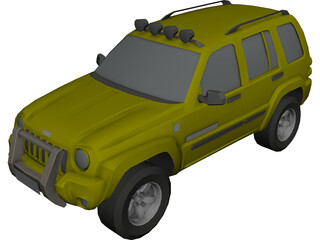 Jeep Liberty 3D Model 3D Preview