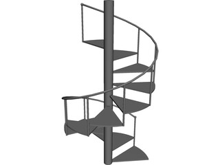 Steel Stair 3D Model