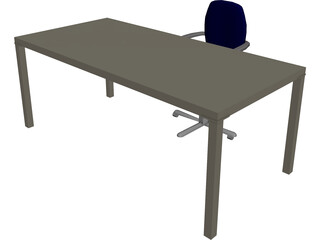 Working Desk 3D Model