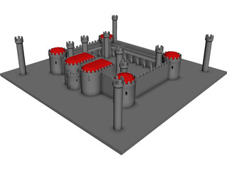 Fortress 3D Model 3D Preview