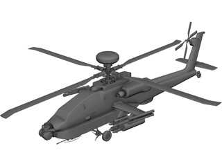 Boeing AH-64D Apache 3D Model 3D Preview