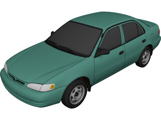 Toyota Corolla (1999) 3D Model