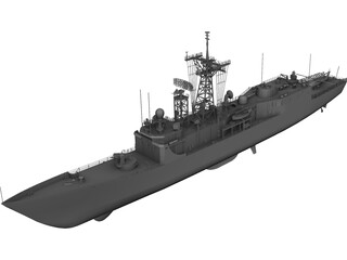 FFG-58 Samuel Roberts 3D Model 3D Preview