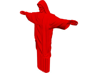Christ Statue in Rio 3D Model