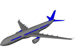 Airbus A330 3D Model 3D Preview