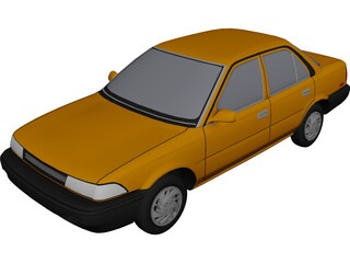 Toyota Corolla (1990) 3D Model
