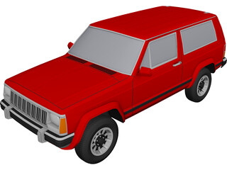 Jeep Cherokee (1994) 3D Model 3D Preview