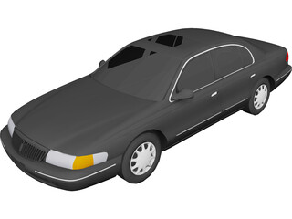 Lincoln Continental (1997) 3D Model