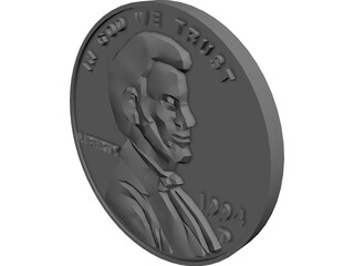 Coin Penny 3D Model