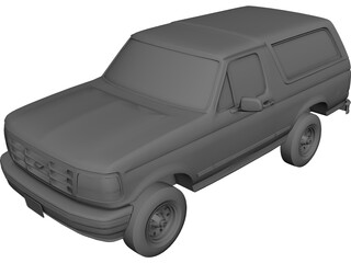Ford Bronco (1995) 3D Model 3D Preview