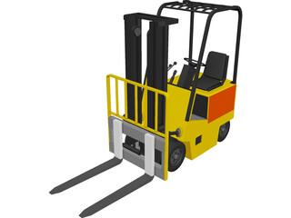 Forklift Yale Yard 3D Model