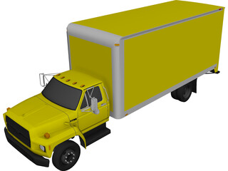Moving Truck (1993) 3D Model 3D Preview