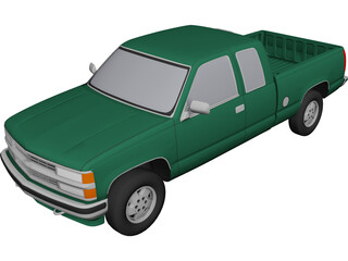 Chevrolet Extended Cab Full-Size Pickup (1994) 3D Model