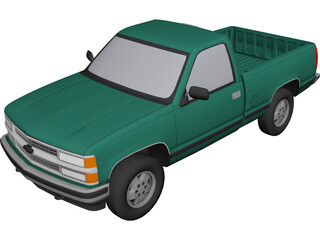 Chevrolet Full-Size Pickup (1994) 3D Model
