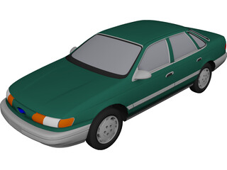 Ford Taurus (1994) 3D Model 3D Preview