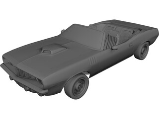 Plymouth Barracuda Cabrio (1970) 3D Model