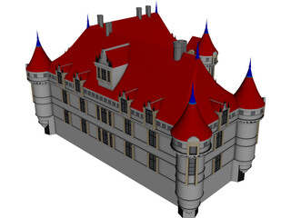 Castle French 3D Model