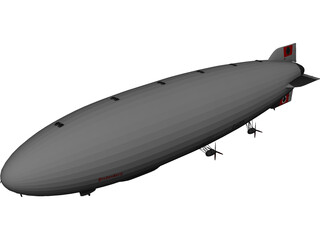 Hindenburg Blimp 3D Model