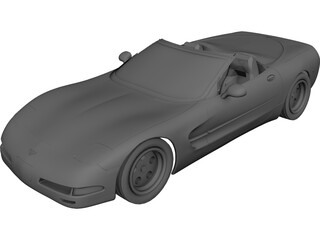 Chevrolet Corvette Convertible (2002) 3D Model