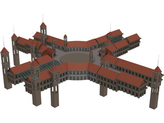 Shopping Centre 3D Model
