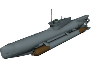Seehund Midget Submarine 3D Model 3D Preview