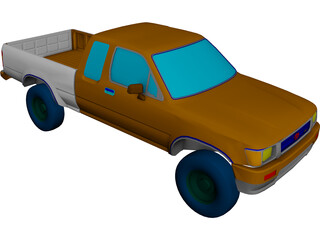 Toyota HiLux 3D Model 3D Preview
