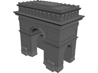 Arc of Triumf Paris 3D Model
