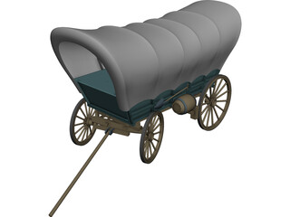 Conestoga Coach 3D Model